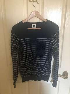 Navy Striper Jumper