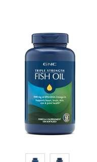 🚚 Gnc triple strength fish oil 120ea