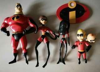 Vintage incredibles family pack figures