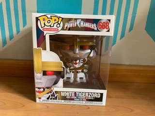 "~ POWER RANGERS  ~ 6/""  ~ WHITE TIGERZORD #668  ~ HOT TOPIC EXCLUSIVE FUNKO POP"