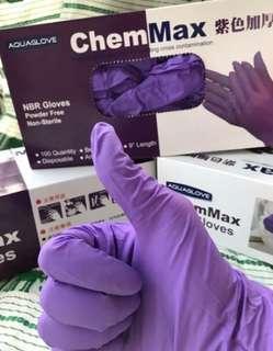 🚚 Chem Max紫色NBR手套,一盒100支160元