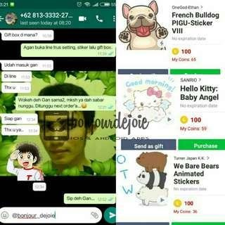 Stiker Line Hello Kitty Baby Angel