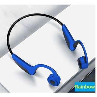 骨傳導無線藍牙耳機($328包送貨)運動跑步骨感不入耳無線頸掛式雙耳可接電話
