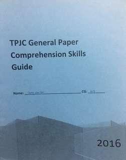 TPJC GP Comprehension Skills Guide(Softcopy)