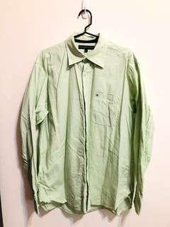 🚚 Tommy Hilfiger 淺綠襯衫