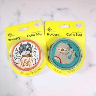 原創品牌 樹懶 散子包小物袋 broidery sidema