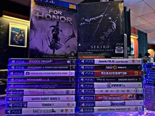 New ps4 games (tradi in accepted)