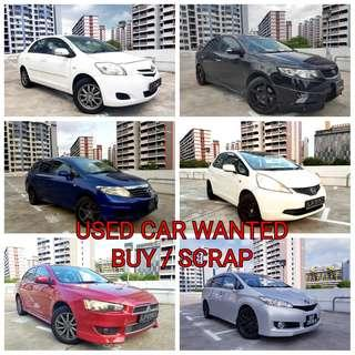 USED CAR WANTED!! BUY / SCRAP / EXPORT