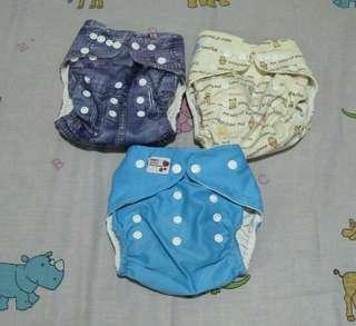 3 pcs celana clodi bayi/anak free insert