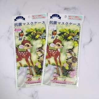 日本 正版 disney小鹿斑比 抗菌口罩袋