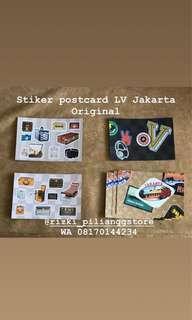 JUAL STIKER POSTCARD OFFICIAL MERCHANDISE LV JAKARTA PACK