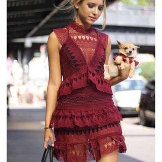 BNWT Self Portrait Red Dress