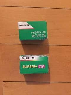 💯% UNOPENED 2 Rolls Fujifilm Colour Camera Film - 100 & 200 ISO