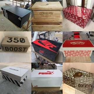 Designer custom made shoe storage