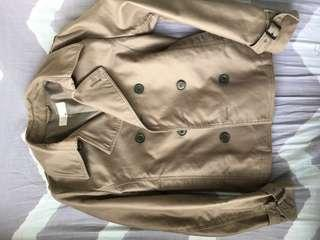 Hare trench coat jacket double breasted 外套 乾濕褸 m 75% new