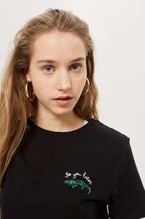 TOPSHOP See you later alligator motif shirt