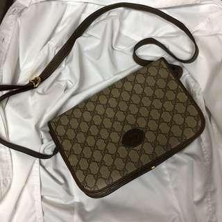 Gucci pvc 復古 滿版 側背包  美品 瑞奇二手精品