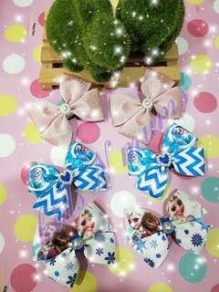 Frozen hair clips / hair ties