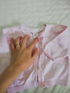 H&M baby girl cardigan (4-6mths)