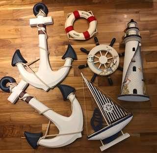 Nautical theme decor for cheap!