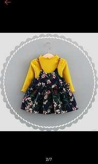 Dress anak 2-3th variasi yellow
