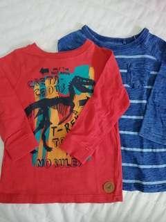 Cotton On Boys long sleeves shirts (2pcs)
