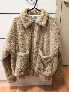 Teddy Faux Fur Jacket Size 6