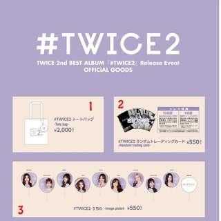 TWICE #TWICE2 Release Event Official Goods