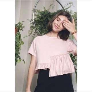 Hollyhoque Joy Babydoll Top Dust Pink