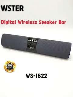 ORIGINAL WSTER WS-1822 Bluetooth Wireless Speaker Bar Support TF Card FM Radio