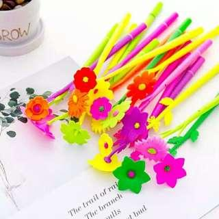 [Mega clearance] 100pc Flower Gel Pen