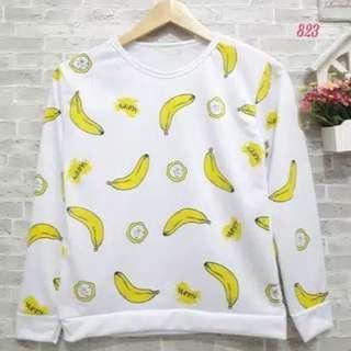 Sweater Banana Yummy Long Sleeve No.0175
