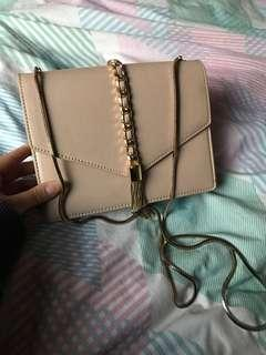 Charles & Keith dusty pink bag