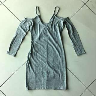 H&M gray bodycon dress #ChangeTheCycle