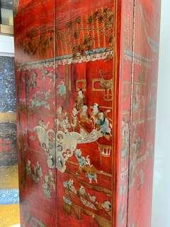 Mandarin Jewellery Tall Cabinet in Rouge Lacque -Free Delivery!