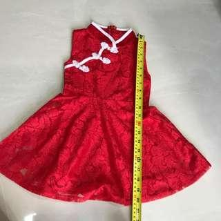 Girl Dress For 1-3 Year Old - Cheongsam