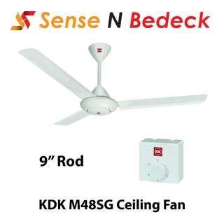 "KDK M48SG 120CM Ceiling Fan with Regulator (9""/12""/18"" Rod)"