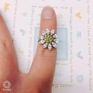 設計款立體小雛菊可調節戒指