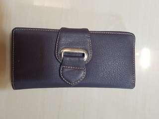 Like New Dompet Ungu Kulit Lentur