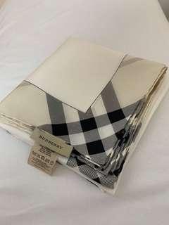 BURBERRY 100% silk scarf