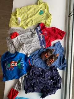 Preloved Baby Boy Top Bundle (3-9 months)