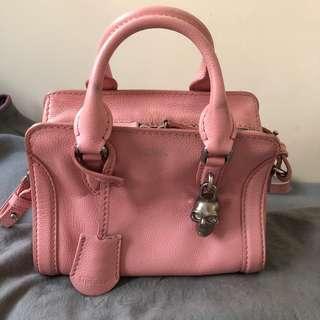 McQueen baby pink手袋