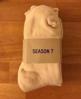 🚚 YEEZY SEASON 7 SOCKS 米色襪子三色組 L/XL
