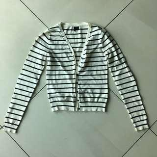 H&M striped cardigan #ChangeTheCycle