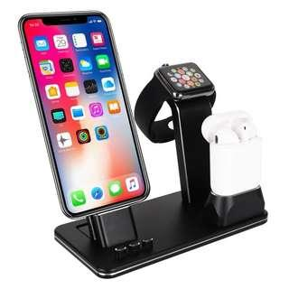 HK$148/1座 ~ 全新鋁金屬3合1手機,手錶,耳筒充電座, 只合iPhone, Airports, iWatch