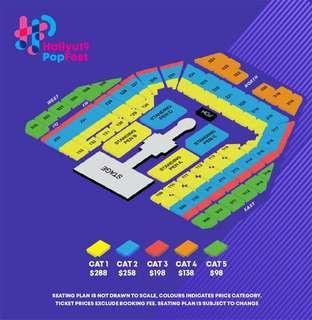 hallyupopfest 2x day2 cat5 ticket