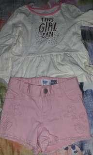 Old navy top and short