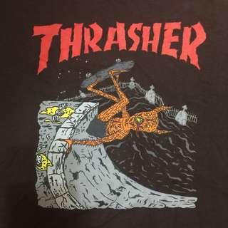 🚚 Thrasher M 咖啡 短t 短袖上衣