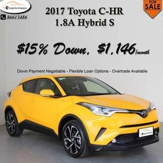 TOYOTA C-HR 1.8 HYBRID S AUTO 5DR
