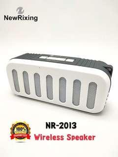 ORIGINAL New Rixing NR-2013 Wireless Bluetooth Speaker USB TF Card Radio